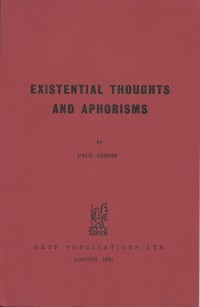 Existential Thoughts and Aphorisms
